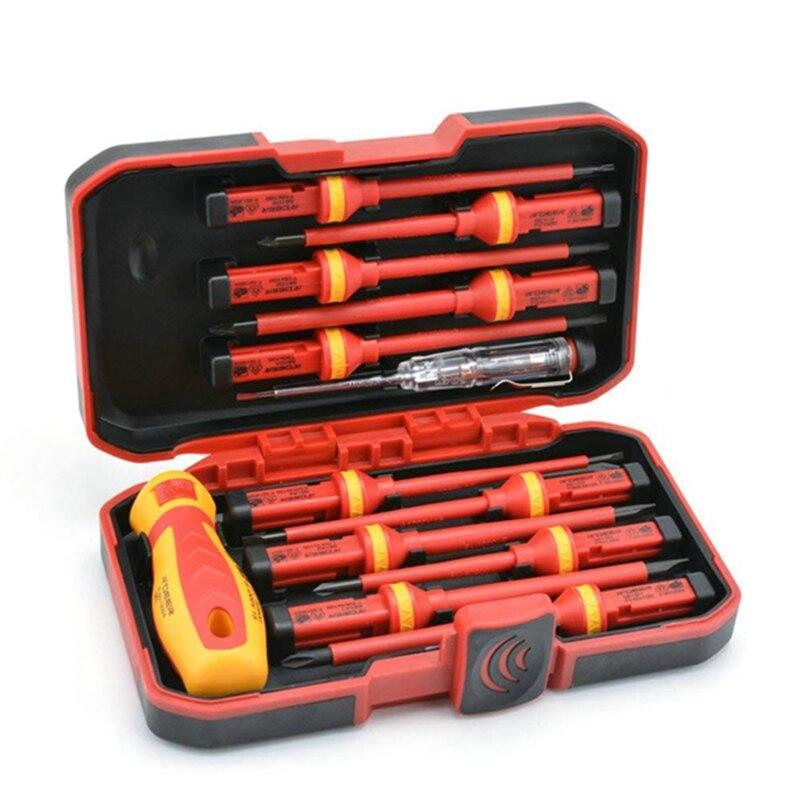 13 Pcs VDE Insulated Screwdriver Set CR-V High Voltage 1000V netic Phillips Slotted Torx Screwdriver Durable Hand Tools