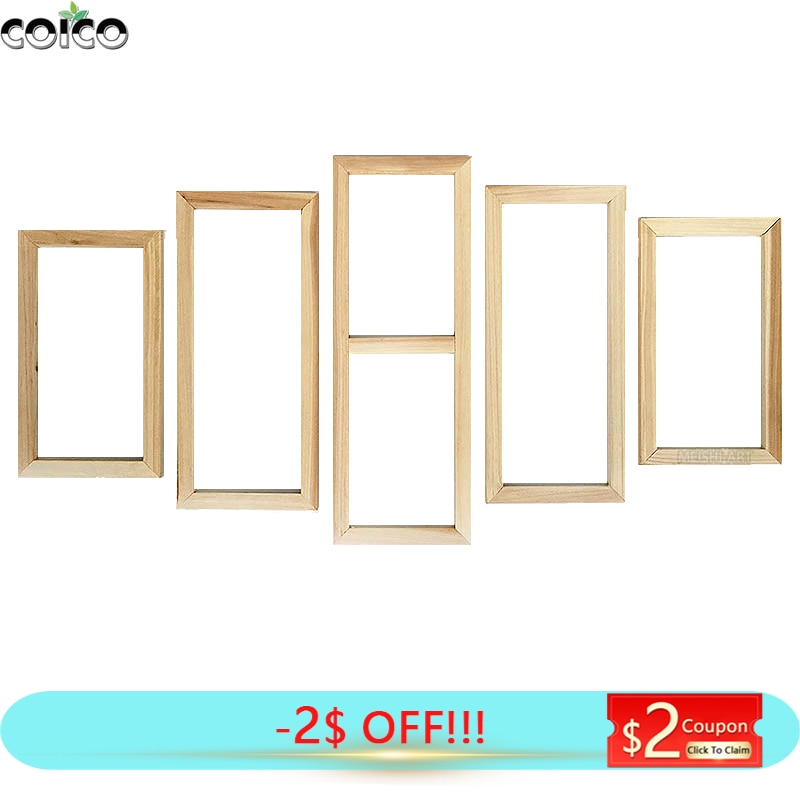 DIY Wood Frame Set for Canvas Oil Painting 5 Panel Wall Picture Frames Custom Size Posters Home Decor Natural Wooden Photo Frame diy canvas paintings frame natural wood photo frame diamond painting frame wall art prints posters hanger frame home decoration