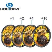 Lightdow 4 In 1 Macro Close Up Lens Filter + 1 + 2 + 4 + 10 Kit 49Mm 52Mm 55Mm 58Mm 62Mm 67Mm 72Mm 77Mm Voor Canon Nikon Sony Camera