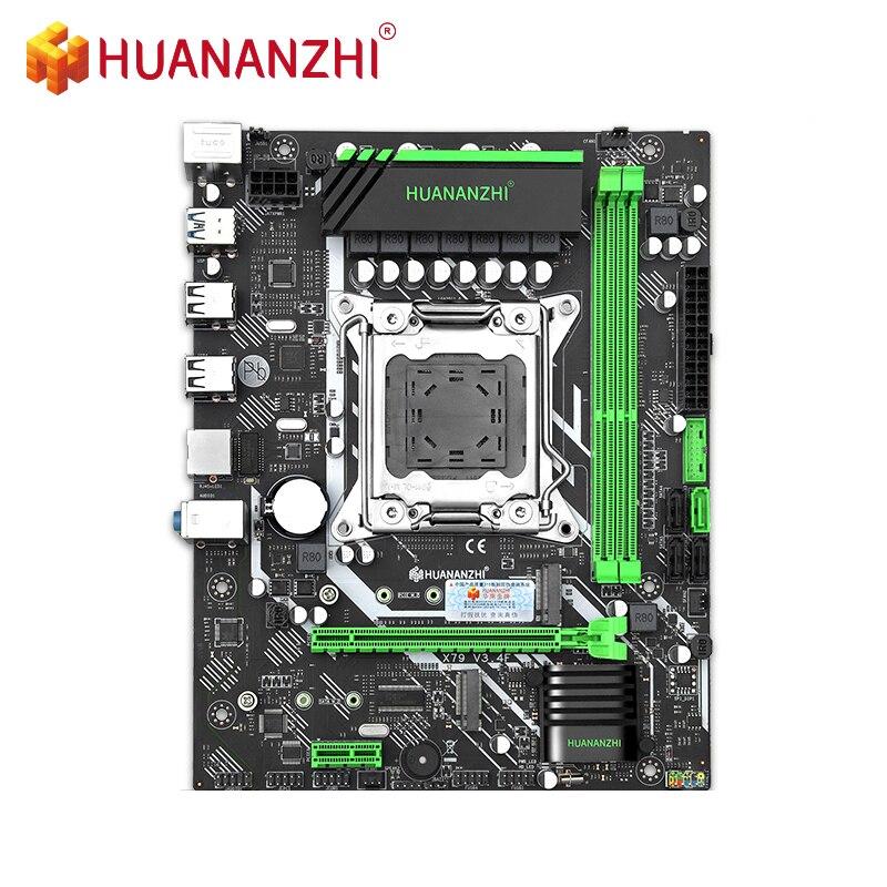 HUANANZHI X79-6M اللوحة DDR3 RECC NON-ECC الذاكرة NVME USB3.0 المعالج C2/V1/V2 إنتل زيون E5 LGA2011 جميع سلسلة