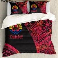 toaddmos tahiti polynesian hibiscus print premium pillowcase quilt cover 3pcsset comfort bedding bag pillowslip duvet cover