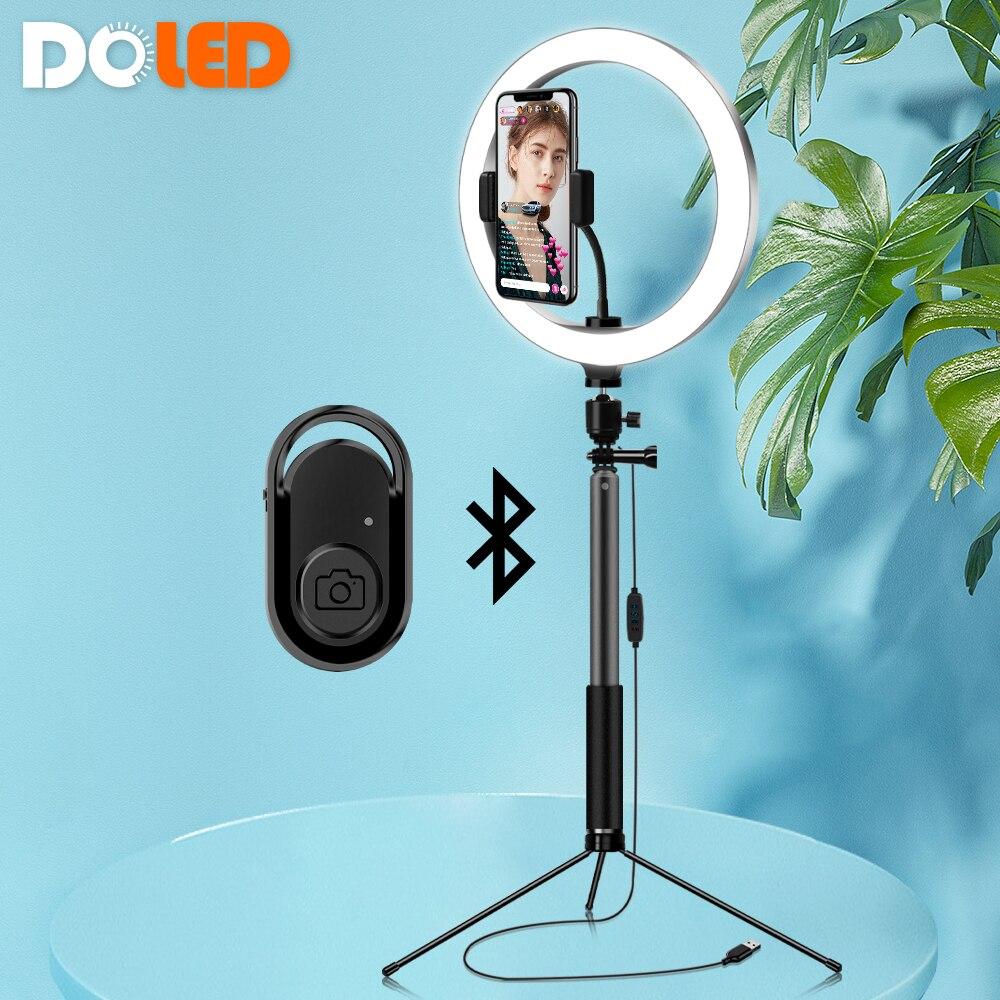 Light de Led com Tripé e Suporte para Celular para Iluminação de Vídeos Ring Vídeos Maquiagem Youtube de Tok