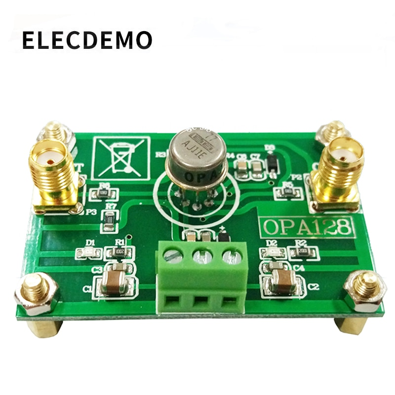 OPA128 Module Electrometer-level charge operational amplifier low bias low offset 110dB gain high impedance