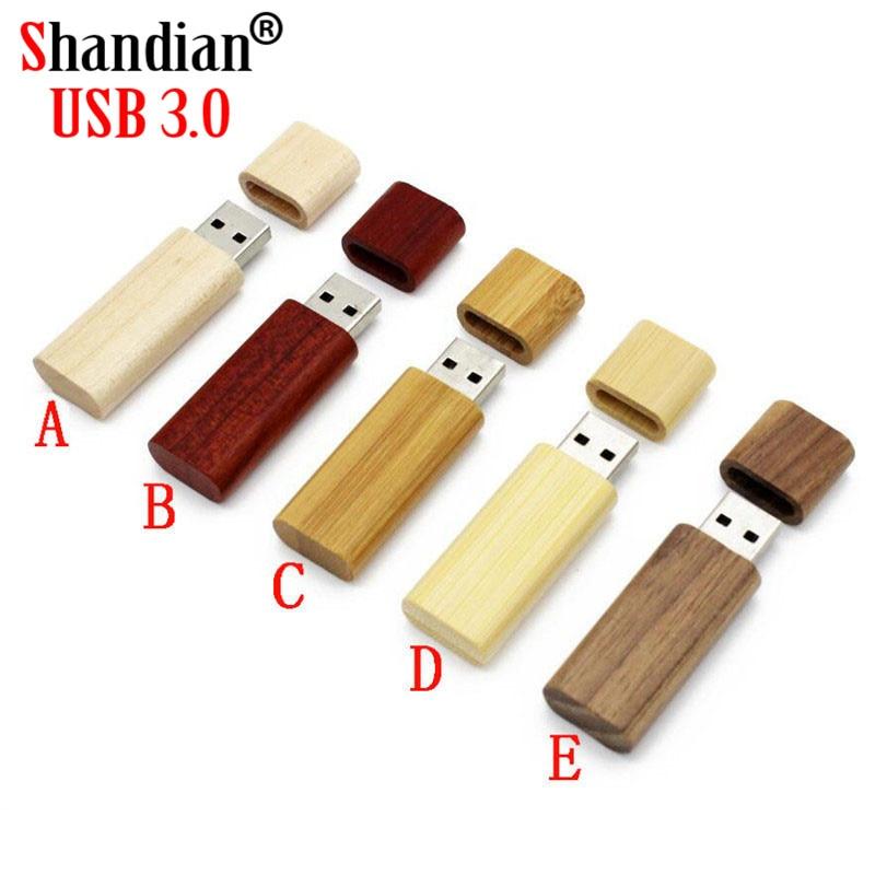 SHANDIAN USB 3.0 High speed Wooden USB flash drive pen driver wood chips pendrive 4GB 8GB 16GB 32GB 64GB 1 PCS free custom logo