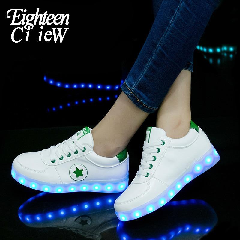USB شحن مضيئة رياضية الاطفال وامض الأحذية ل شبح الرقص Led متوهجة أحذية رياضية للبنين بنات تضيء أحذية