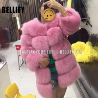 high quality fluffy 100 natural real fox fur coat for women 2020 new female thick warm fur jacket russian style