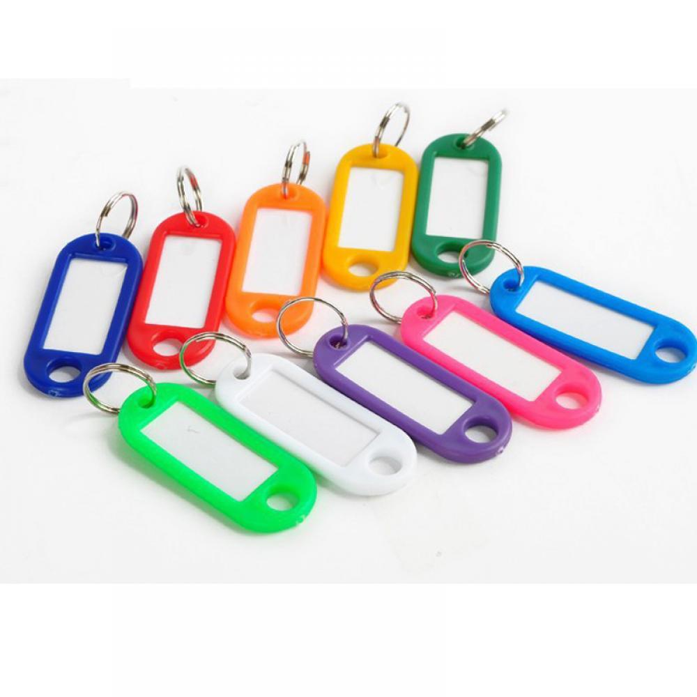 Бирки для ключей, 10 шт., пластиковые, ключи цепочки Ключи Кольца