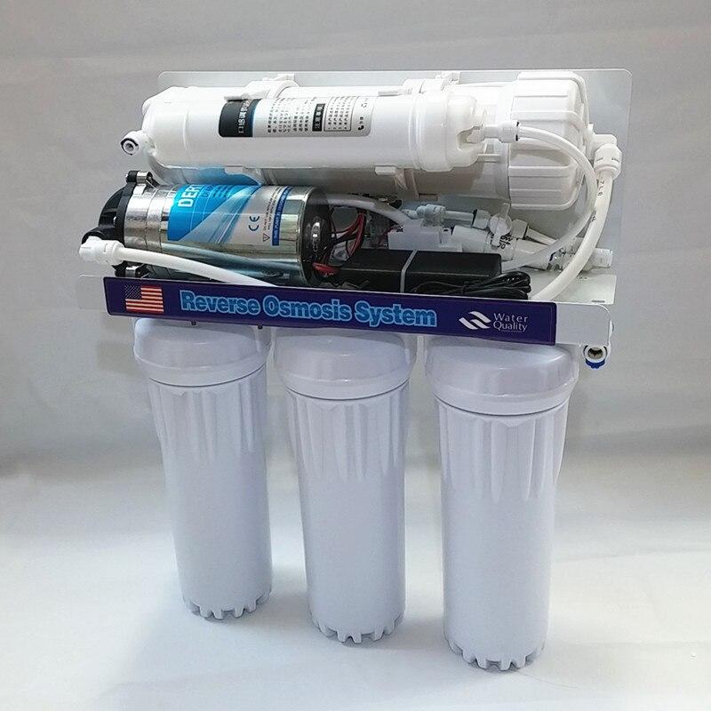 1 set 400gpd Sistema de ósmosis inversa máquina de agua pura filtro de agua de ósmosis inversa partes ro bomba de agua clorador de sal