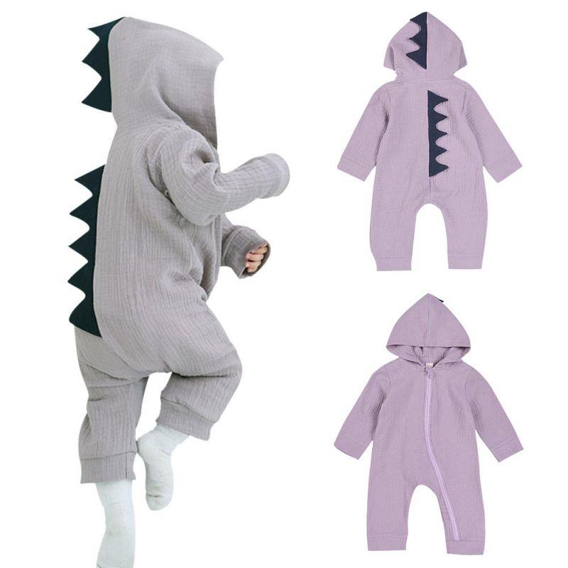 ベビーロンパース新生児服ベビーハロウィン恐竜衣装ロンパース子供の綿の服セットかわいい幼児共同スプレイ