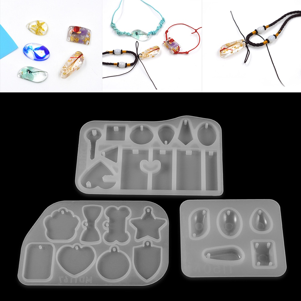 1pc Mix Pendant Shaped Earrings Silicone Mold Handmade Epoxy Silicone Mold Epoxy Resin Molds Jewelry Making Jewelry Tools demixing pendant resin mold silicone mold casting molds epoxy uv jewelry making moulds jewelry making jewelry tools