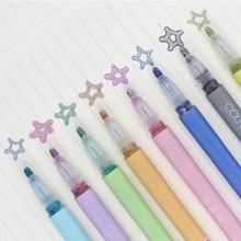 8 pièces/1 ensemble coloré Double ligne stylo surligneur Fluorescent marqueur couleur bonbon étudiant multicolore main Note stylo pour affiche scolaire