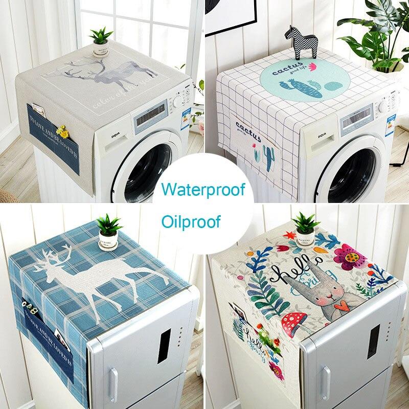 Cubierta superior del polvo del refrigerador de la cubierta de la lavadora, accesorios del hogar de la cubierta impermeable del polvo del horno de microondas