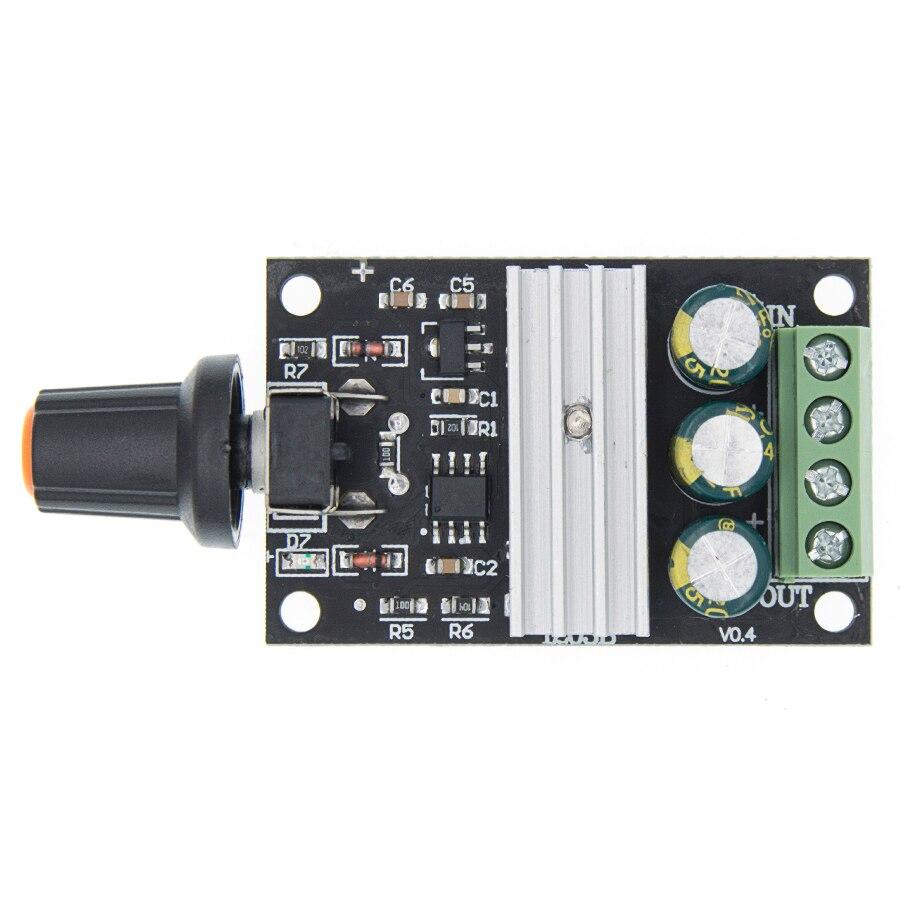 1 Uds DC 6V 12V 24V 28VDC 3A 80W PWM controlador de velocidad del Motor regulador ajustable de Control de velocidad Variable con interruptor de potenciómetro