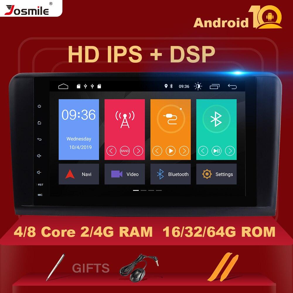 8 ядер Android 10 4G Ram Автомобильный GPS для BENZ ML 320/ML 350/W164(2005-2012) GL 2 Din Мультимедиа Навигация стерео DAB + Wifi камера