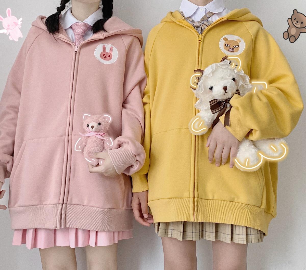 Anke polvos originales Huhu / Round / Milk Dragon Roar, otoño e invierno, nuevo estilo grueso, manga larga, gorro, suéter, abrigo