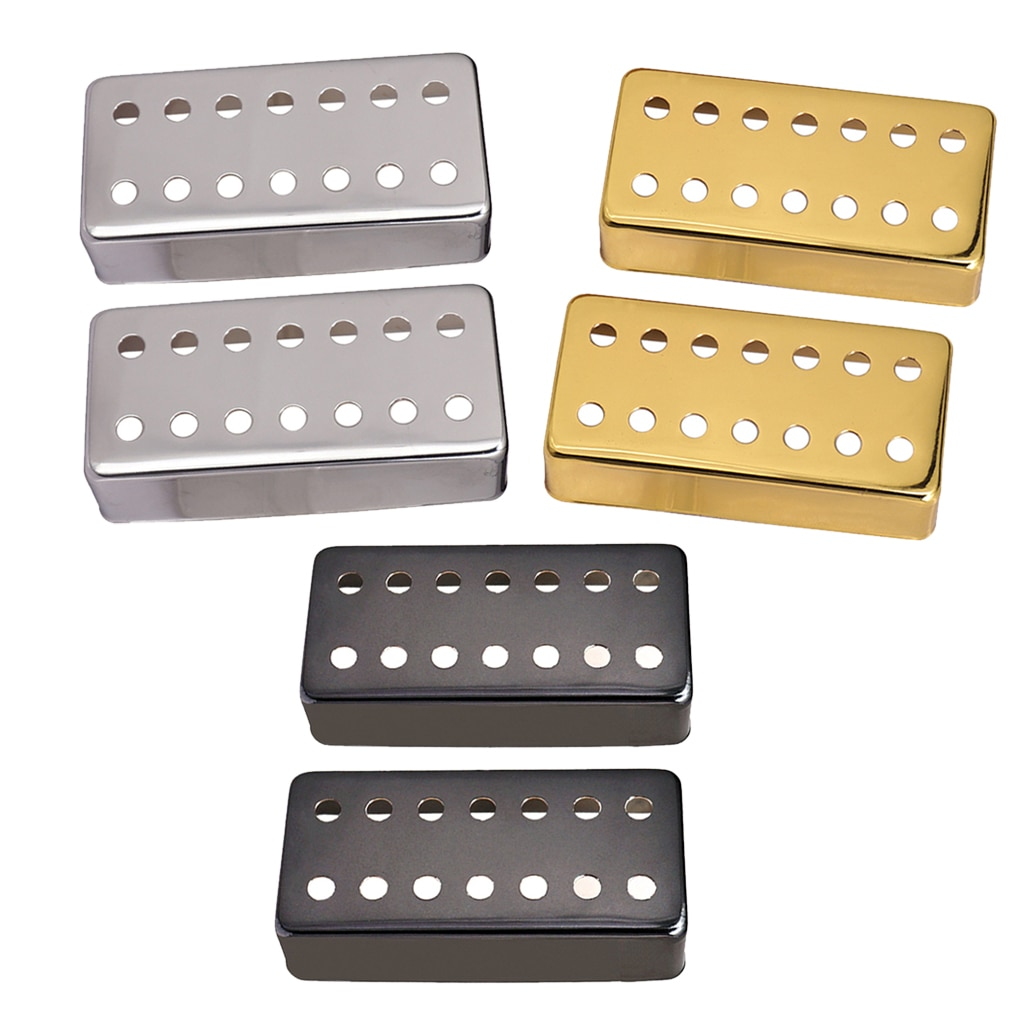 Pacote de 2 pçs humbucker captador cobre bronze guitarra elétrica musical parte decoração para 7 cordas acessório da guitarra elétrica