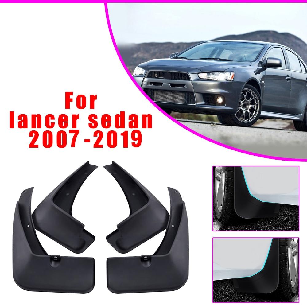 Car Mud Flaps Fender Mud Splash Guards Mudflaps Reflective Warning Mudguards Accessories For Mitsubishi Lancer 2007 2008-2019