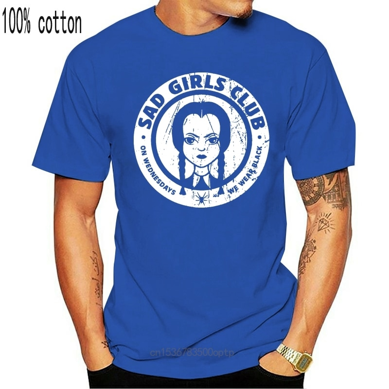 New Sad Girls Club Women T-Shirt The Wednesday Addams Gomez Morticia Family Fun Vintage Tee Shirt