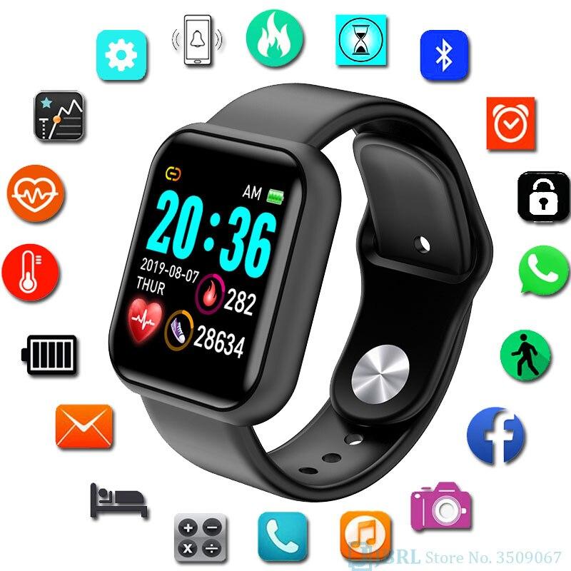 Смарт-браслет y68 Смарт-часы монитор артериального давления пульса фитнес-трекер дистанционное управление умные часы для женщин и мужчин