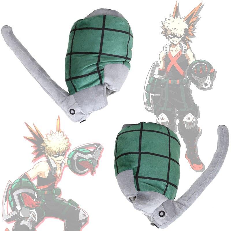 Anime My Hero Academia Katsuki Bakugou arma de muñeca almohadas suaves de peluche juguetes de la muñeca Prop GiftMy Hero College