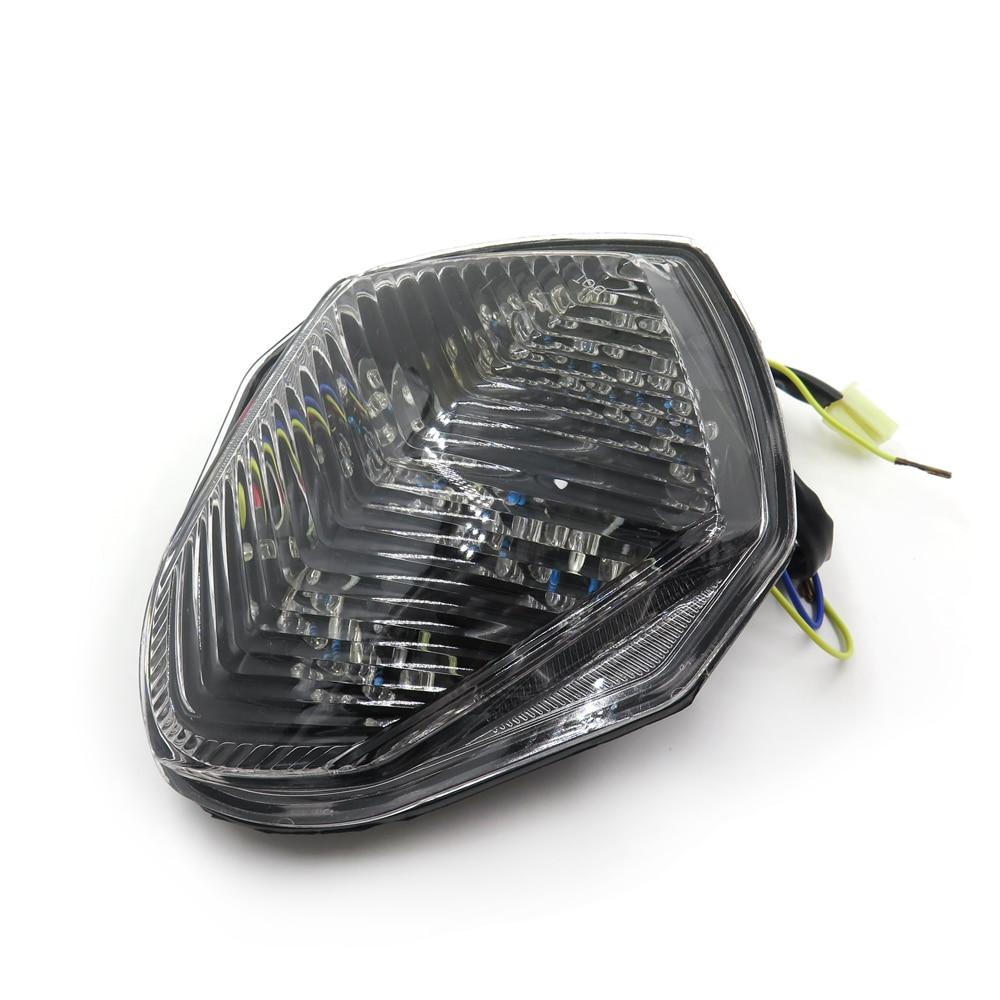 Luces traseras para motocicleta envío gratis, luz LED de freno trasero para Suzuki GSX-R GSXR1000 2003 2004 transparente