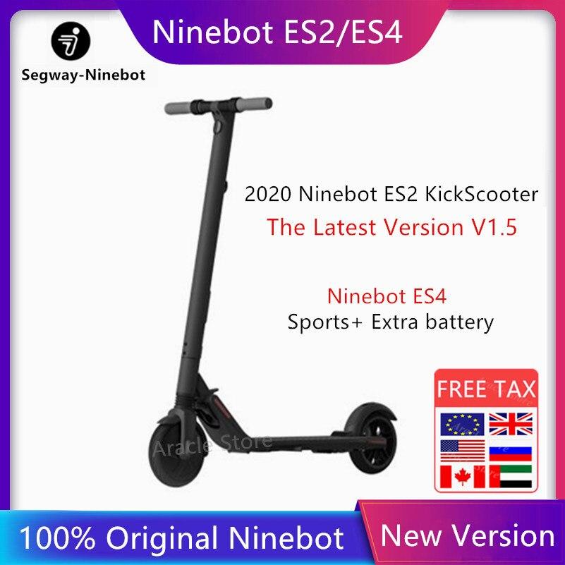 2020 Original nuevo Ninebot ES4/ES2 KickScooter último V1.5 ligero eléctrico inteligente Scooter plegable patada Scooter aerotabla