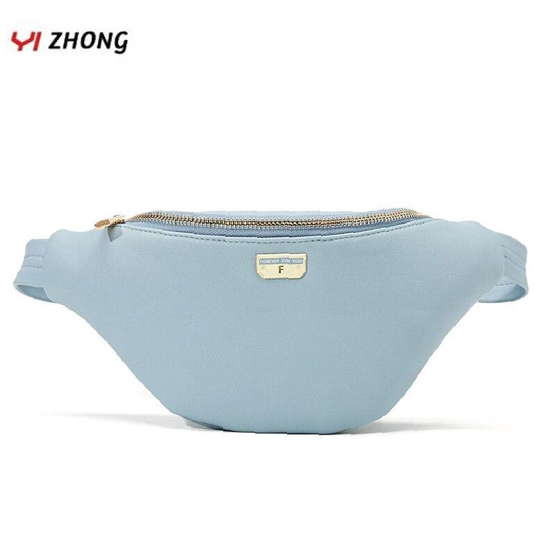 YIZHONG mode luxe en cuir rose Fanny Pack grande capacité taille sac poitrine sac pour les femmes sport multi-fonctionnel ceinture sac