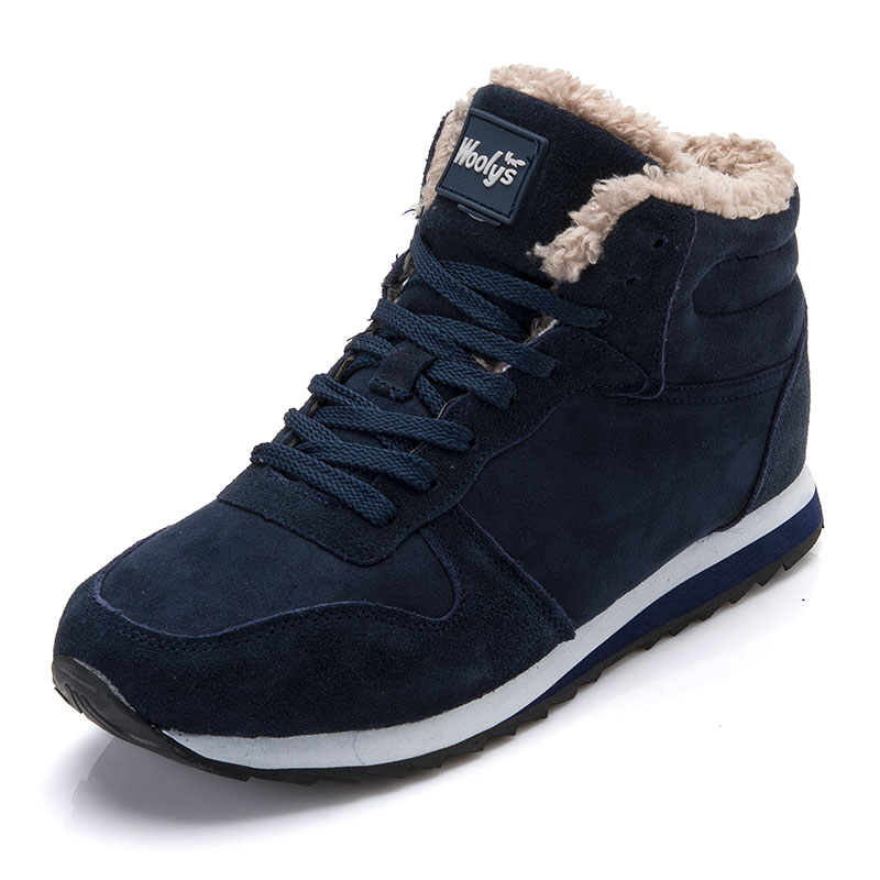 Men Shoes Winter Warm Fur Men Casual Shoes Lace Up Round Toe Casual Men Shoes Flock Footwear For Winter Man Sneakers 2018 winter warm women white sneaker fashion footwear lace up lady shoes with soft fur lining candy color back