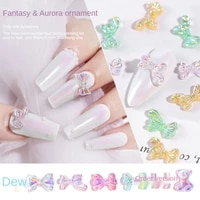 10 pieces nail art 3d nail decoration cute butterfly colorful sweet girl diy art manicure decor accessories crystals for nails
