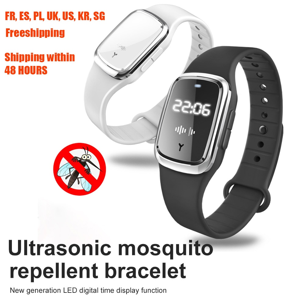 Ultrahangos kültéri szúnyogriasztó karkötő vízálló kártevőirtó szúnyogriasztó karkötő