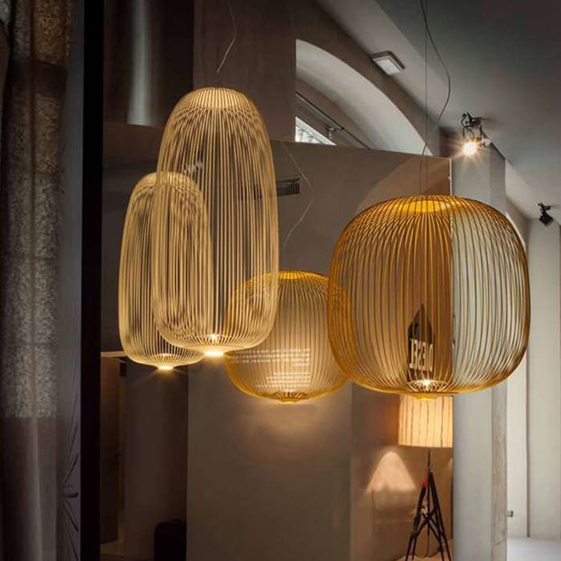 Foscarini radios 1/2 colgante luces LED Hanglamp LOFT pájaro jaula brillo suspensión lámpara art deco Luz