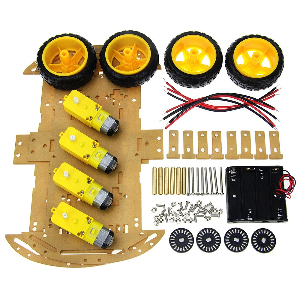 2019 4/2WD Robot Smart Car Chassis Kits with Speed Encoder for Arduino 51 M26 DIY Education Robot Sm