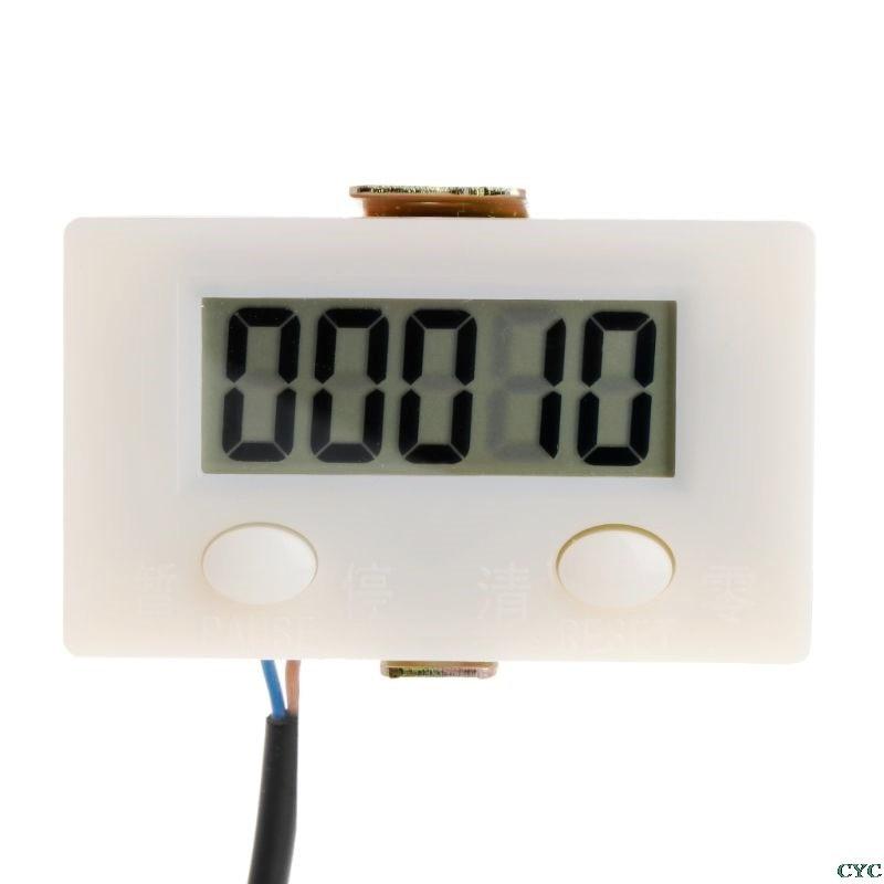 Digital LCD de 5 dígitos golpe contra con restablecer botón de pausa Micro interruptor
