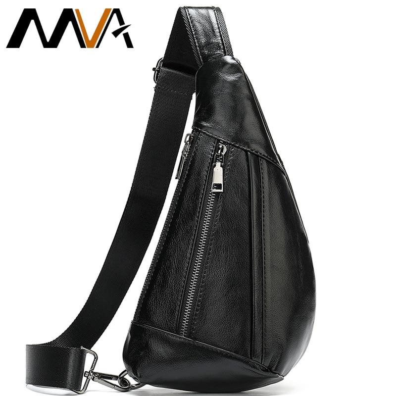 AliExpress - MVA Genuine Leather Bag Men's Crossbody Bag For Men Messenger Bags Men Leather Men's Shoulder/Chest Bags Small Chest Pack 7025