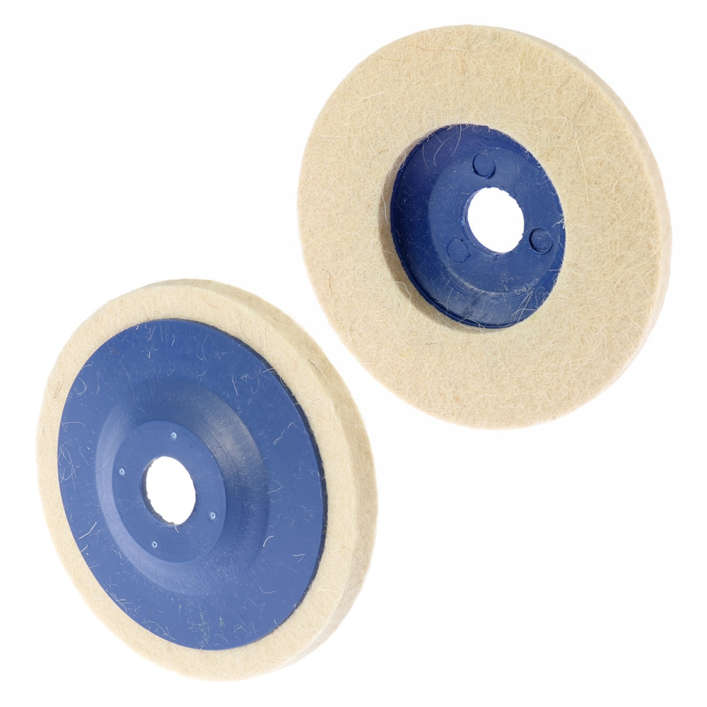 1pc 4 pollici 100mm tamponi per lucidatura in lana per lucidatura a - Utensili abrasivi - Fotografia 2