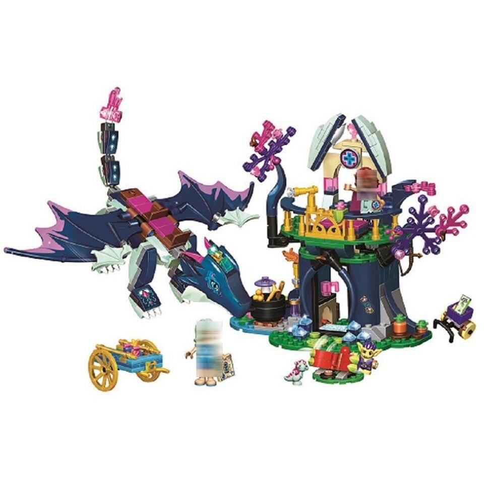 10697 elfos Rosalyns Healing Hideout bloques de construcción compatibles con lepining amigos 41187 para regalo de niñas juguetes modelo
