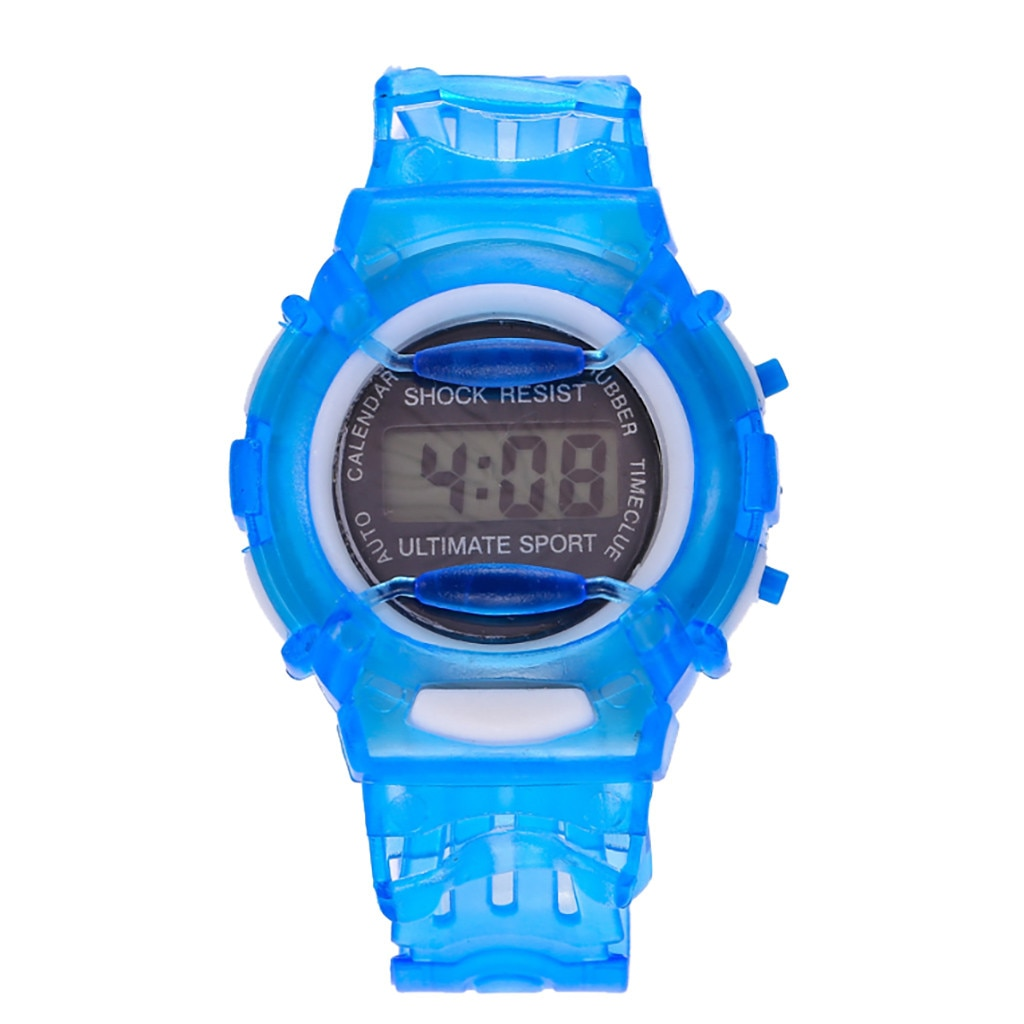 Fashion Sports Electronic Watch For Boys Girls Children Students Blue Waterproof Led Digital Wrist Watches Alarm Date Watches waterproof children boys girls digital led quartz alarm date sports wrist watch new arrival freeshipping hot sales sport watches