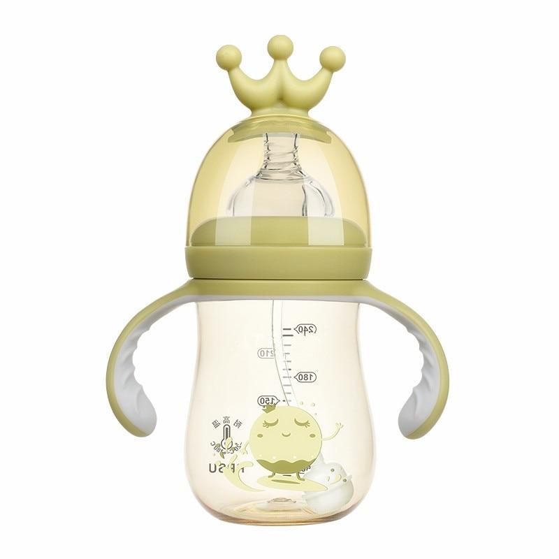 300MLInfant Children Drinking Bottle Kids Non-spill Portable New Born Baby Bottles StrawWater Bottle Drinkware
