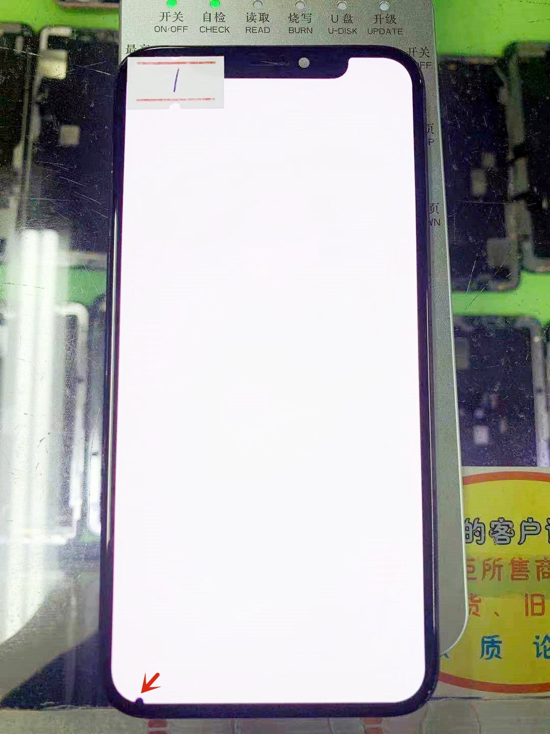 For iPhone X Original LCD Display Used With 3D Touch Screen Assembly Replacement For iPhone X OLED True Tone With line or dot enlarge