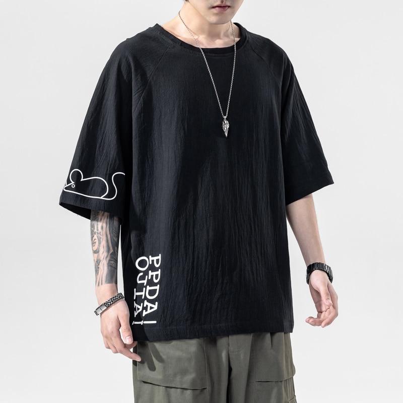 Streetwear Cotton Men T Shirt 2020 Summer Short Sleeve Mens T Shirts Printing Male Tee Shirt Homme