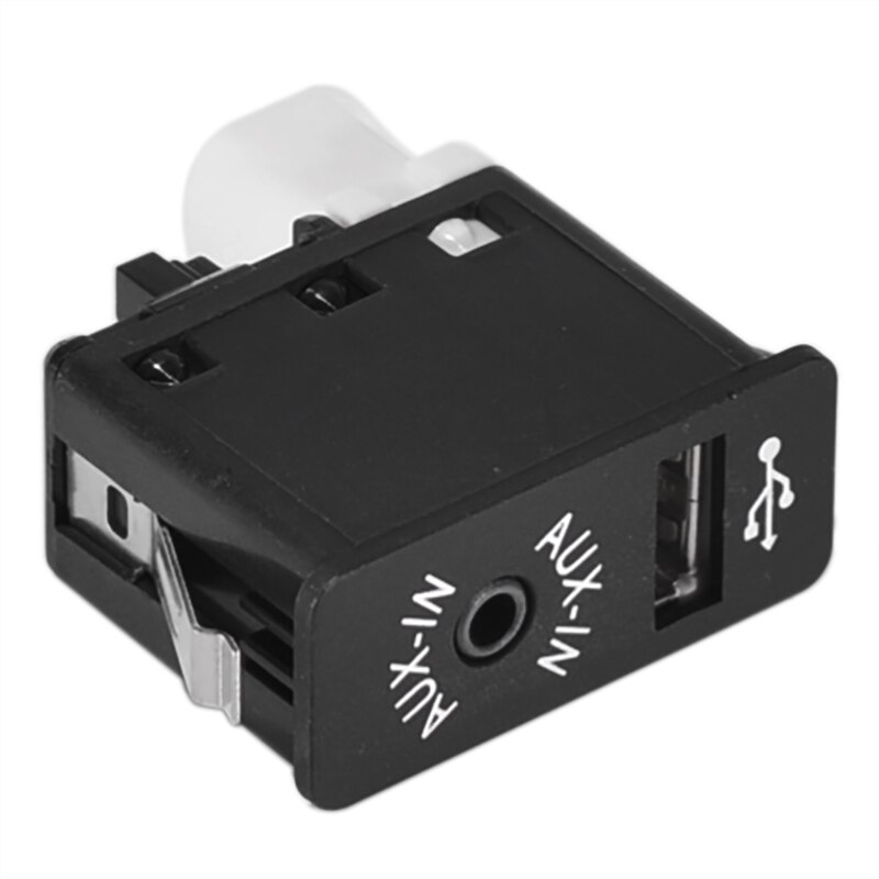 Adaptateur de prise auxiliaire pour BMW E63 E81 E87 E90 F10 F12 E70 X1 X3 X5 USB AUX prise auxiliaire