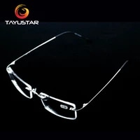 titanium alloy glasses frame rimless eyeglasses myopia prescription eyeglasses men women myopia glasses reading glasses