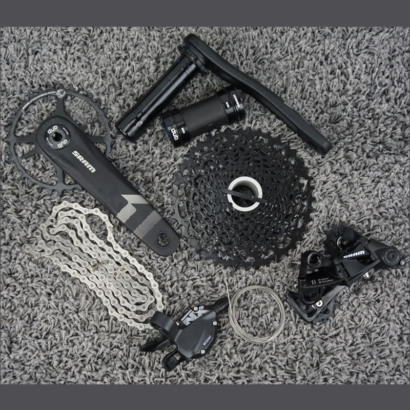 SRAM NX 1X11 velocidad grupo Kit de DUB con BB30 BB X1 águila platos y bielas Cassette 11-42T