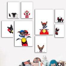 Miniature Pinscher Bouledogue Chien Nordique Affiches Et Gravures Mur Art Toile Peinture Art Animal Prints Mur Photos Bébé Enfants Chambre