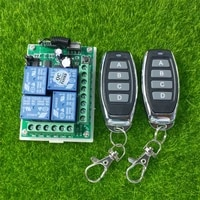 smart multiple dc 12v 24v 10a 315433 mhz 4ch 4 ch wireless relay rf remote control switch receiver 4 button transmitter