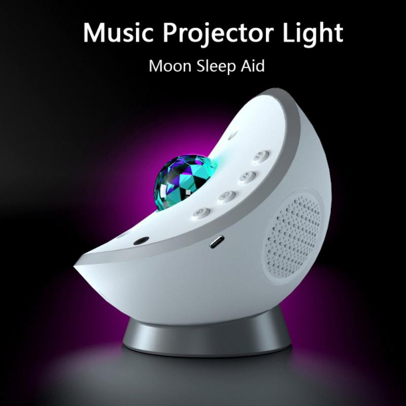 Star Projector Lamp Bedroom LED Night Light Water Wave Rotatable Lamp Music Bluetooth-compatible Spe