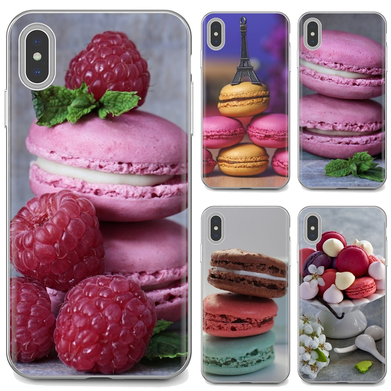 For Samsung Galaxy J1 J2 J3 J4 J5 J6 J7 J8 Plus 2018 Prime 2015 2016 2017 Colorful Silicone Phone Case Food Wallpaper Macaron