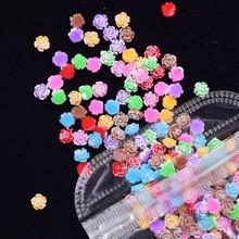 100 pièces mélanger ongles Double-couleurs strass cristaux paillettes strass 3D Nail Art décoration blanc AB couleur acrylique gemmes ZCF13