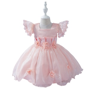 Summer Dress for Baby Girls Ball Gown First 1st Birthday Dresses Baby Party Clothing Toddler Clothes Infant Vestidos 6M-3 Years