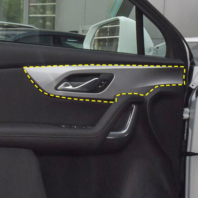 LHD!! Para chevy chevrolet blazer 2019 2020 estilo de carbono porta lateral interior alça tigelas quadro decoração capa guarnição estilo do carro